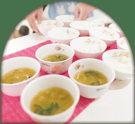 味噌汁のアップ